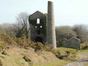 A tin mine on Caradon hill, Bodmin Moor