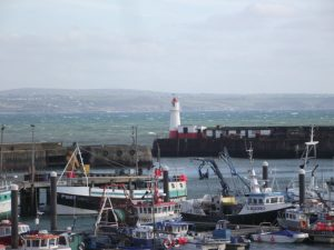 fishing boats Newlyn harbour