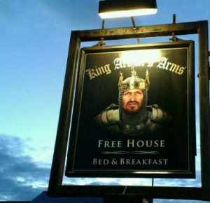 King Arthur, pub sign Tintagel