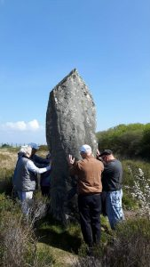 Menhir standing stone on The Lizard