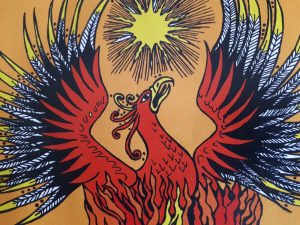 Phoenix logo for pagan fest