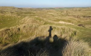 St Piran's Cross makes a shadow on Dunes