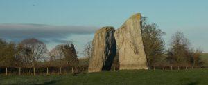 Standing stones at Avebury stone circles