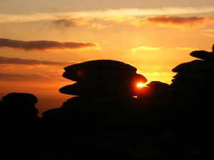 Rough tor sunset Bodmin Moor