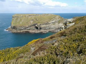 View of Tintagel Island