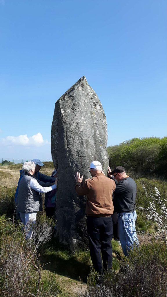 Menhir standing stone on The Lizard