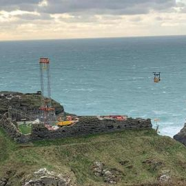 building a new bridge at Tintagel castle