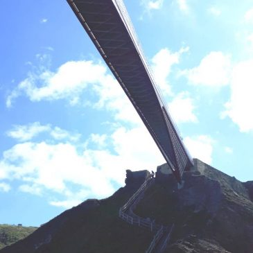 Visiting Tintagel Castle's New Bridge