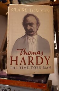 Front cover of Claire Tomlin's biography 'Thomas Hardy The Time- Torn Man'