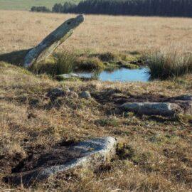 ruined stone circle, Bodmin Moor